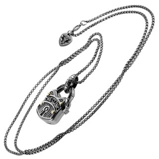 Stephen Webster London Calling Sterling Silver & Mother of Pearl Pendant Necklace