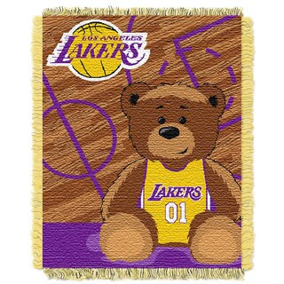 NBA 04401 Lakers 'Half-court Baby' Woven Jacquard Throw