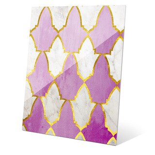 'Lavender and Marble Tiles' Acrylic Wall Graphic