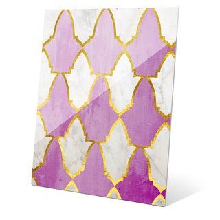 'Lavender and Marble Tiles' Wall Graphic on Glass