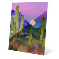 'Rising Moon in the Desert' Glass Wall Graphic