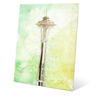 Space Needle Green' Multicolored Acrylic Wall Graphic
