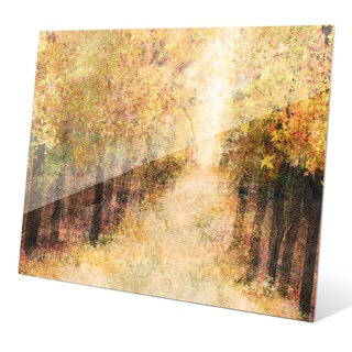 'Yellow Fall Forest' Glass Wall Graphic