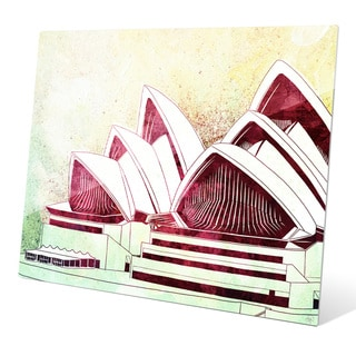 Sydney Opera House Green' Multicolored Glass Wall Graphic