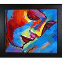 Helena Wierzbicki 'Near to the Heart' Hand Painted Framed Canvas Art