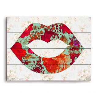 'Gardens and Lips' Wooden Wall Graphic