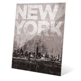'Distressed Skyline - NYC' Wall Graphic on Glass