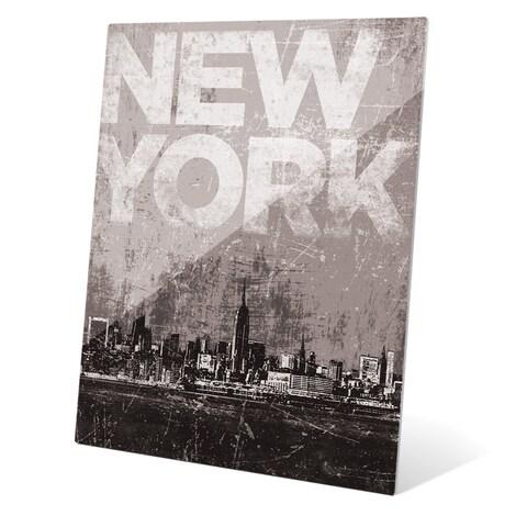 'Distressed Skyline - NYC' Wall Graphic on Acrylic