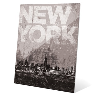 'Distressed Skyline - NYC' Wall Graphic on Acrylic