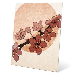 'Dark Cherry Blossoms' Wall Graphic on Acrylic