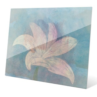 Lilly on Sky' Multicolored Glass Wall Graphic