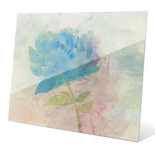 'Azure Peony' Glass Wall Graphic
