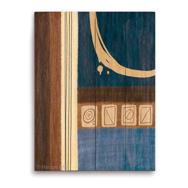 'Captain's Shape Split ' Wood Wall Graphic