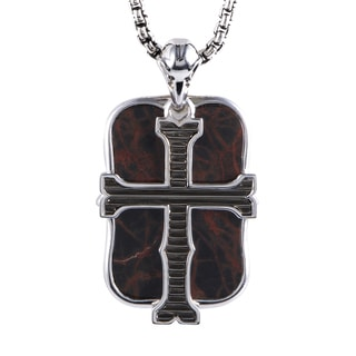 Stephen Webster London Calling Sterling Silver Jasper Pendant Necklace