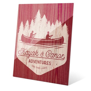 'Kayak and Canoe Adventures - Warm' Wall Graphic on Glass