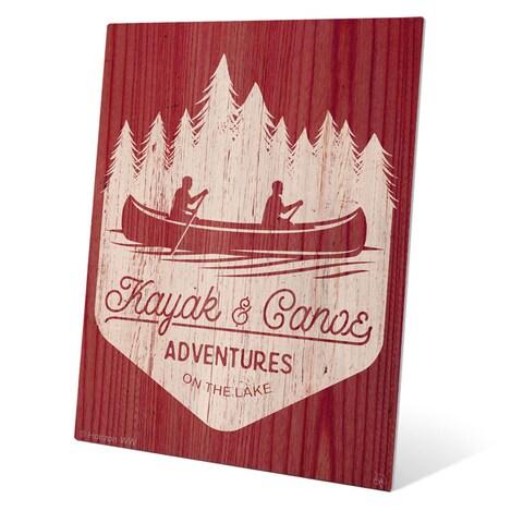 'Kayak and Canoe Adventures - Warm' Wall Graphic on Metal