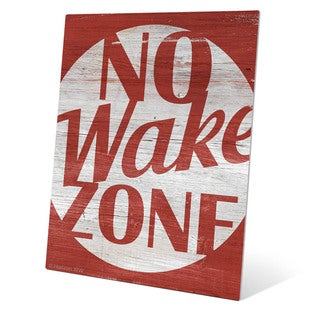 'No Wake Zone Red' Metal Wall Graphic