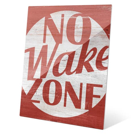 'No Wake Zone' Red Abstract Glass Wall Graphic