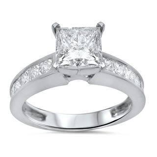 Noori 14k White Gold 2 1/10ct TDW Princess Cut Diamond Engagement Ring|https://ak1.ostkcdn.com/images/products/12253481/P19094700.jpg?impolicy=medium
