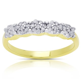 Finesque Gold Over Silver or Sterling Silver 1/4ct TDW Diamond Ring