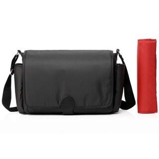 Colorland Taylor Messenger Dark Grey Polyester Diaper Bag