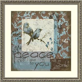 Framed Art Print 'Bluebird II' by Julie Ueland 25 x 25-inch