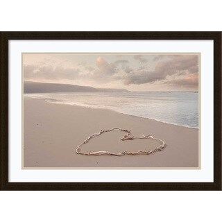 Framed Art Print 'Love's Serenity (Beach)' by Ian Winstanley 32 x 23-inch