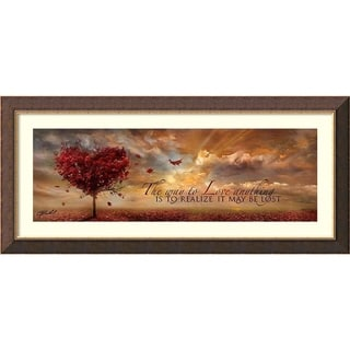 Framed Art Print 'The Way to Love Anything' by Jason Bullard 44 x 20-inch