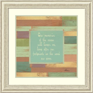 Framed Art Print 'Beaches Quotes I' by Grace Pullen 27 x 27-inch