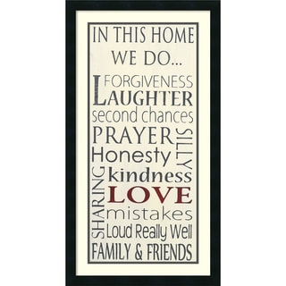 Framed Art Print 'In this Home' by Holly Stadler 19 x 35-inch