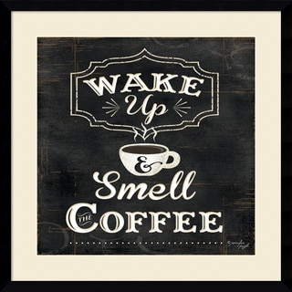 Framed Art Print 'Wake Up and Smell the Coffee' by Jennifer Pugh 21 x 21-inch