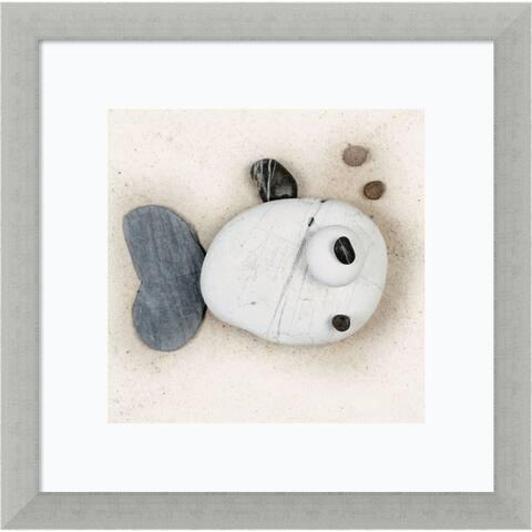 Framed Art Print 'Stonefish II' by Ian Winstanley 14 x 14-inch