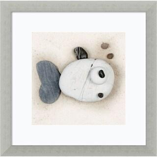 Framed Art Print 'Stonefish II' by Ian Winstanley 13 x 13-inch