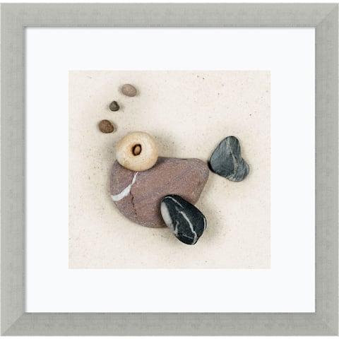 Framed Art Print 'Stonefish I' by Ian Winstanley 14 x 14-inch