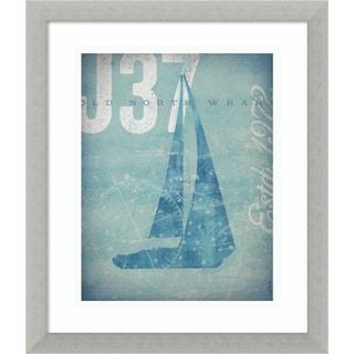 Framed Art Print 'Nautical III: Sailboat' by Stephen Fowler 13 x 16-inch
