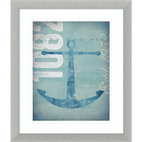 Framed Art Print 'Nautical II: Anchor' by Stephen Fowler 16 x 19-inch