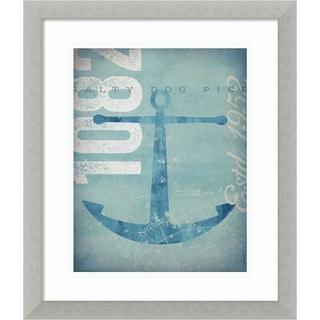 Framed Art Print 'Nautical II: Anchor' by Stephen Fowler 13 x 16-inch