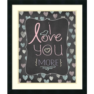 Framed Art Print 'Love You More' by Jo Moulton 22 x 26-inch