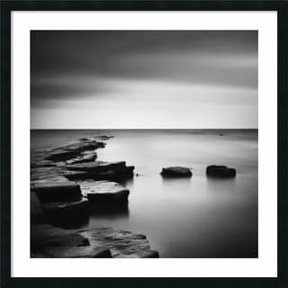 Framed Art Print 'Coastal Calm' by Nina Papiorek 34 x 34-inch