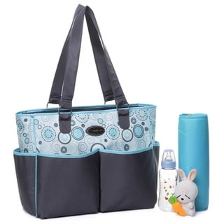 Colorland ASB Flower Polyester Tote Diaper Bag