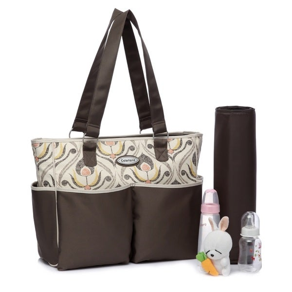 Colorland Athens Flower Tote Diaper Bag