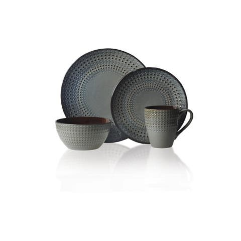 Gourmet Basics by Mikasa Riley 16-piece Stoneware Dinnerware Set