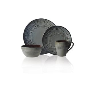 Mikasa Gourmet Basics 16-piece Stoneware Dinnerware Set  sc 1 st  Overstock.com & Black Stoneware Dinnerware For Less   Overstock