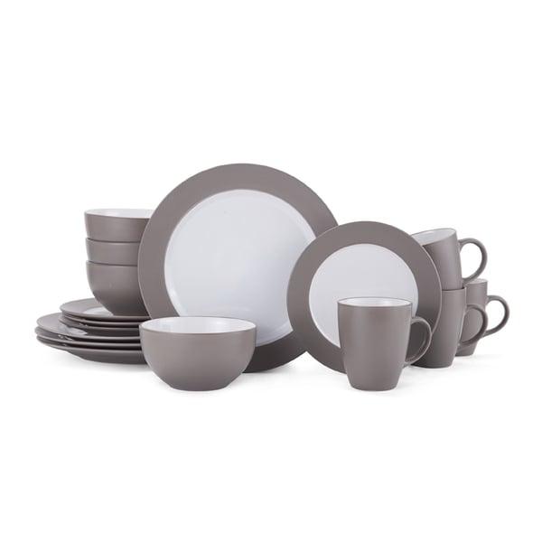 Gormet Basic Bradley Taupe 16-piece Dinnerware Set  sc 1 st  Overstock & Gormet Basic Bradley Taupe 16-piece Dinnerware Set - Free Shipping ...