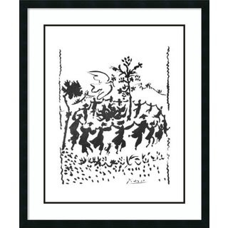 Framed Art Print 'Long Live Peace' by Pablo Picasso 30 x 36-inch