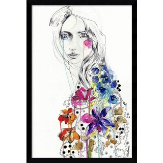 Framed Art Print 'Lost (Girl)' by Holly Sharpe 17 x 25-inch