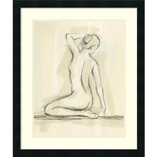 Framed Art Print 'Neutral Figure Study IV: Nude' by Ethan Harper 22 x 26-inch
