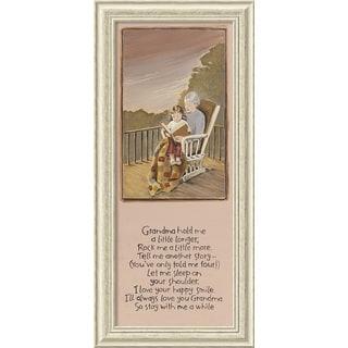 Framed Art Print 'Grandma' by Karen Tribett 18 x 39-inch