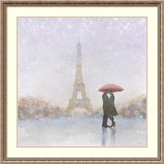 Framed Art Print 'Eiffel Romance' by Marco Fabiano 34 x 34-inch