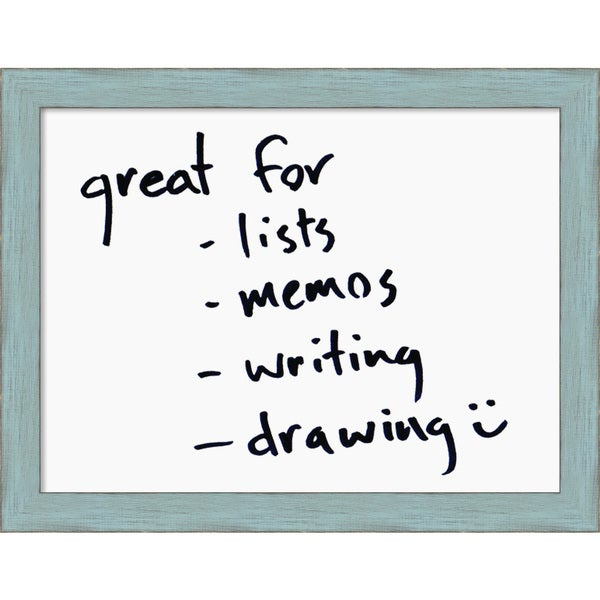 Framed 'Dry Erase Board Medium, White' 22 x 17-inch